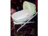 Babies wicker basket cribs