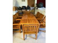 Extra Large Solid Wood Garden Furniture (15 Pieces) - See Listing For Details Of Everything + Sizes