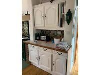 Used French oak white farmhouse kitchen