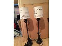2 Next Table lamps