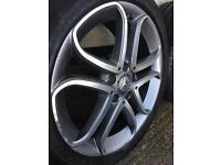 "Genuine 17"" Mercedes wheels with nearly new Pirelli tyres"