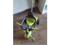Smartrike toddler trike with removeable parent handle