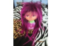 TWO TONE PURPLE GLAM ROCK / PUNK FANCY DRESS WIG PARTY OR HEN DO