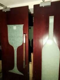 Custom Glass wood door