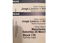 Jorge linares v Anthony Crolla 2 Manchester arena 25/3/2017 championship boxing