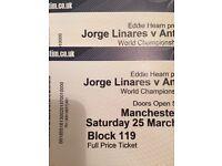 Jorge linares v Anthony Crolla 2 Manchester arena 25/3/2017 championship boxing