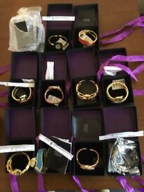 10 x ladies women's wrist watches all boxed with ribbons in full working order with batteries £7ono