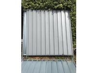 Site hoarding/ metal fence panels