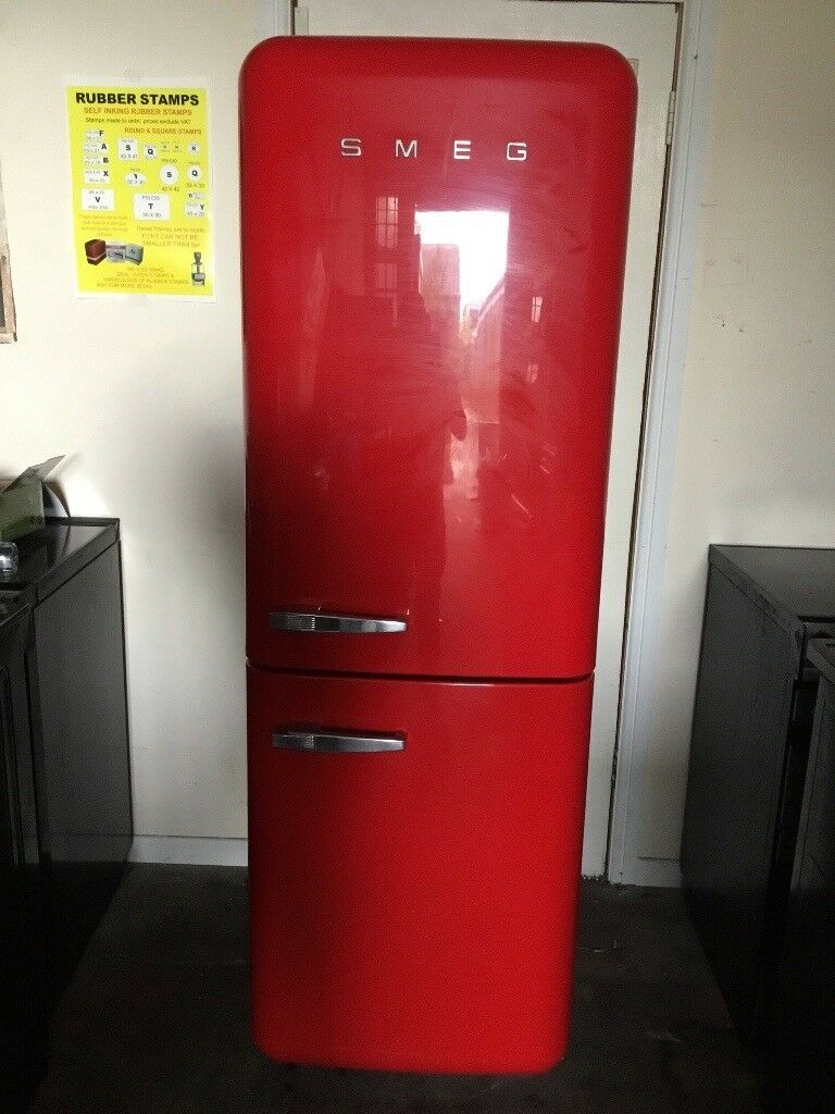 Smeg fridge freezer FAB32 red 3 months warranty free local delivery!!!!!!