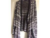 Aztec style print cardigan