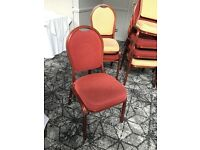 Banqueting chairs red/gold 200 available
