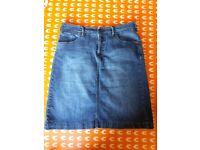 White Stuff Size 10 Denim Skirt