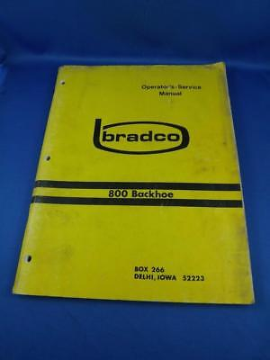Bradco Operators Service Manual 800 Backhoe 3 Point Hitch