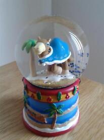 New camel snow globe