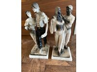 Black and White statues