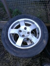4 x Renault Clio Alloys with very good tyres, 4 stud type 70mm centres, 175/65R14 82T