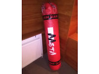 Perfect conditions 5ft Aasta Filled Red Boxing, MMA, Muay Thai, Kick Boxing. with wall brackets
