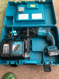 Makita LXT BHR162RFE 14.4 volt cordless sds drill