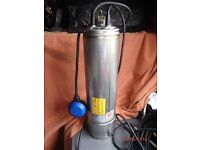 """EBARA IDROGO M40/8 A 20 MT HO7 - 240V 5"""" SUBMERSIBLE S/STEEL PUMP WITH FLOAT AND 10 MTRS CABLE"""