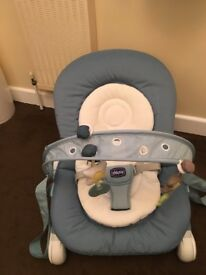 CHICCO HOOPLA BABY BOUNCER, BRILLIANT CONDITION