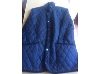 Barbour style Quilted jacket RRP £180 Made by Sterling this unique jacket is Navy Blue!!