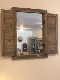 Driftwood Shutter Mirror £32.99