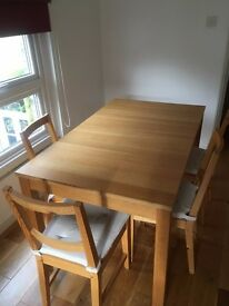 Kitchen table chairs - excellent condition for collection 27 Dec (pm) or 28th Dec (am)