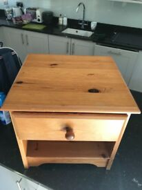 Small pine bedside table for sale
