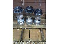3 coleman fishing lamps