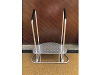 Disabled alloy step for motor home or caravan