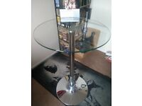 Glass Round Bar Table