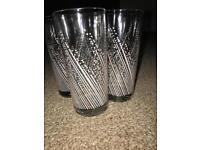 Set of 4 80's Drinking Glasses
