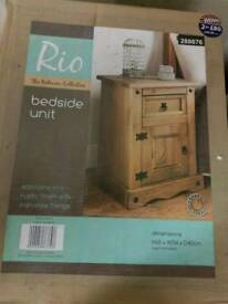 2 bedside units, Brand New
