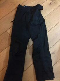 Girls black ski trousers