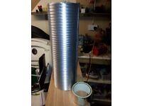 "3 x Bathroom Kitchen Extractr Fan & COOKER HOOD 5"" Flexible Ducting Pipe 1.5 MTR"