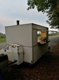 Catering trailer fitted with gas catering equipment complete with generator