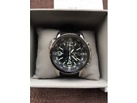 New Seiko Prospex Solar Quartz Alarm Chronograph Watch with Black Dial.