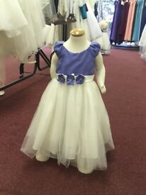 Bridesmaid/Flower Girls dress Ivory/Periwinkle Age 3