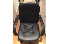 Black Leather Desk Chair Arm Rest Height Adjust