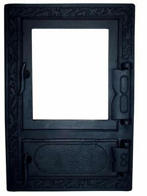 47 x 32,5 Cast Iron Fire Door Clay Bread Oven Pizza Stove Quality BLACK (D)