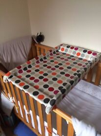 Modified Cot Bed Changing table