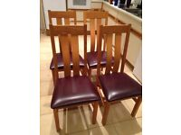 High quality Studio One upright dining chairs - four in total
