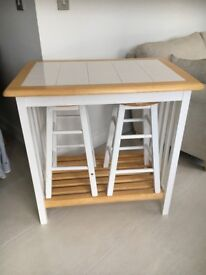 Table bench and 2 stools
