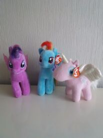 TY MY LITTLE PONY PLUSHIES