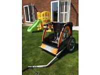 Halfords Double Buggy Child Bike Trailer in excellent condition. Only used a few times.