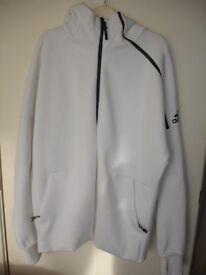 Mens White Adidas Z.N.E Hoodie Hooded Zipped Jumper Jacket Size XL