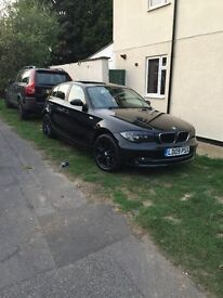 BMW 1series 2.0L 2009 black great condition