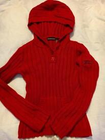 DKNY Hooded Knit Jumper