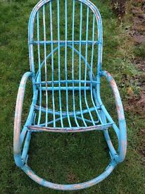 turquoise rustic/shabby chic rocking chair