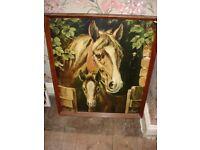 Horse Painting Retro 1980's